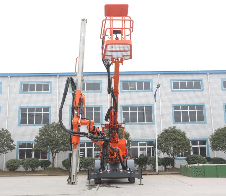 DS1-150单臂带吊篮锚杆台车-江西鑫通机械制造有限公司