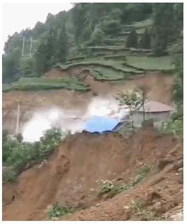 湖南常德石门县发生大型山体滑坡 塌方量约200万方