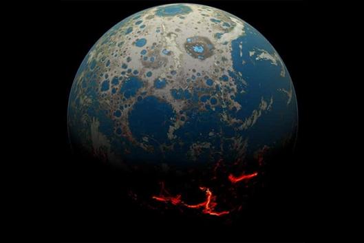 地球陆地形成时间重新确定?比预期早5亿年